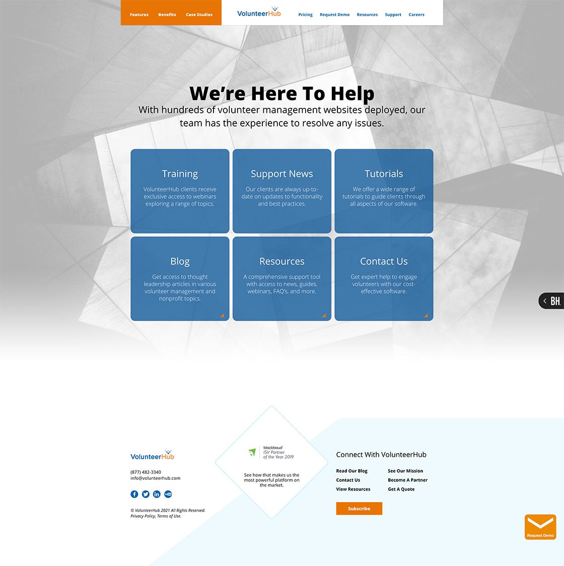 LMG Portfolio_Volunteer Hub_Website and Logo_2